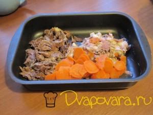 говядина, свинина и морковь