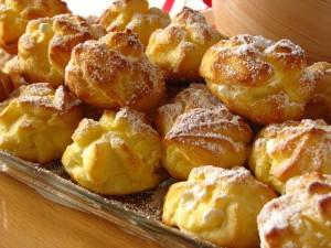 Заварные булочки с творожным кремом