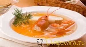 Готовим суп из раков