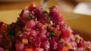 Традиционный классический рецепт винегрета с сельдью